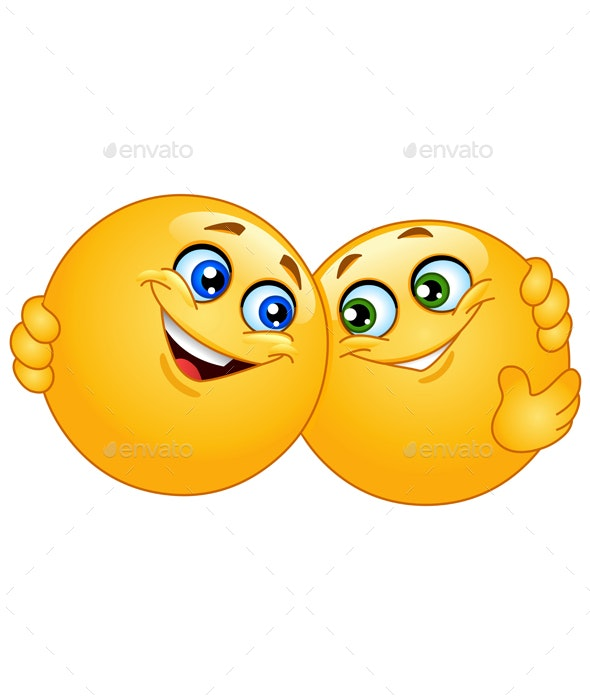 Hugging Emoticons - People Characters