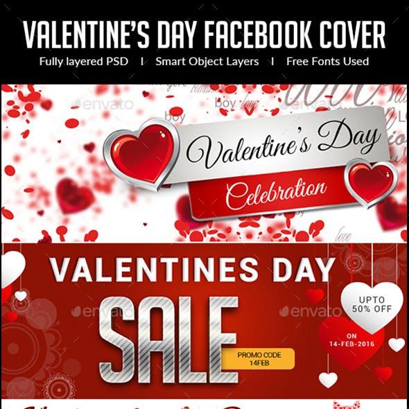 Valentine's Day Facebook Cover Bundle