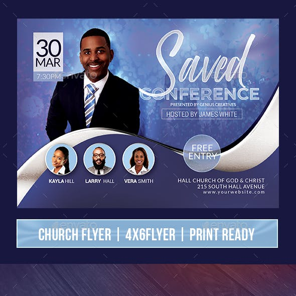 Saved Church Event or Conference Flyer V4