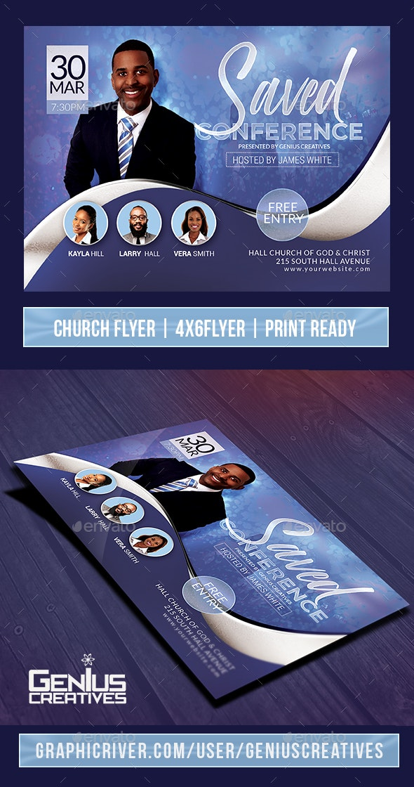 Saved Church Event or Conference Flyer V4 - Church Flyers