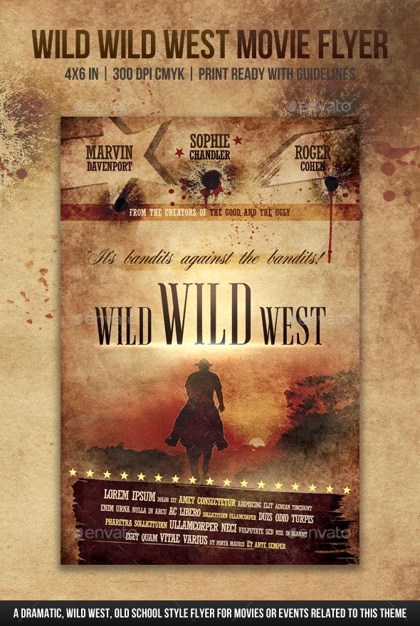 Wild Wild West Movie Flyer - Miscellaneous Events