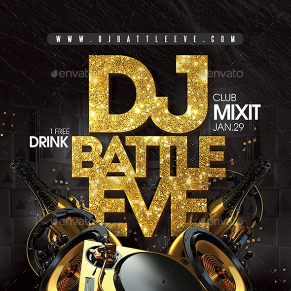 Dj Battle Night Flyer