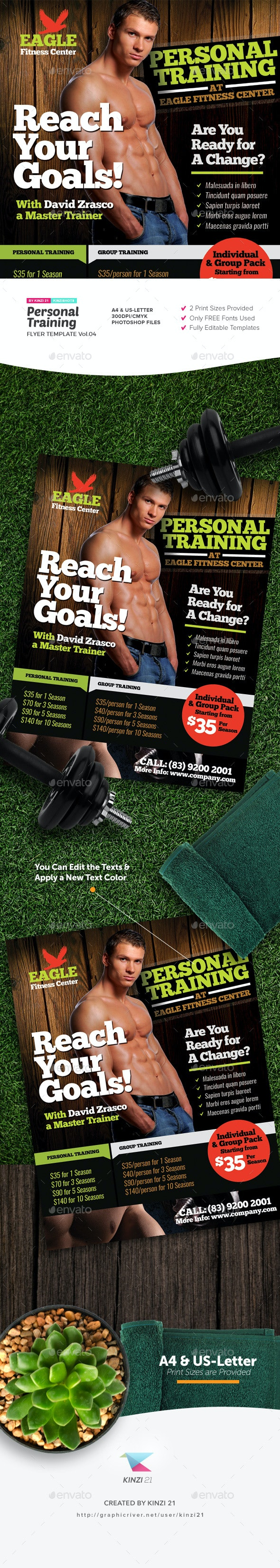 Personal Training Flyer Template v.04 - Sports Events
