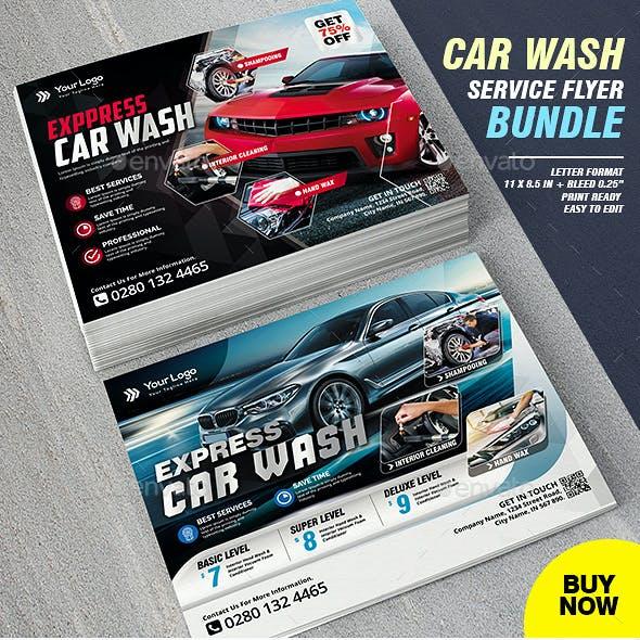 Car Wash Flyer Template Bundle