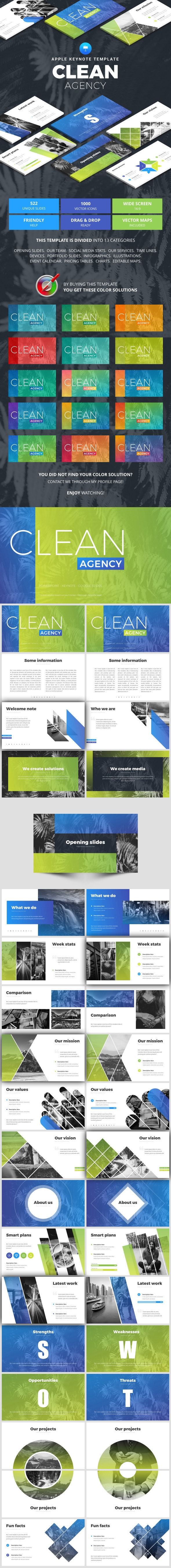 Clean Agency - Business Keynote Templates
