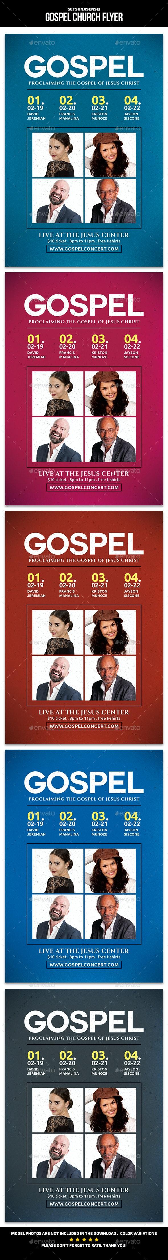 Gospel Church Flyer - Church Flyers