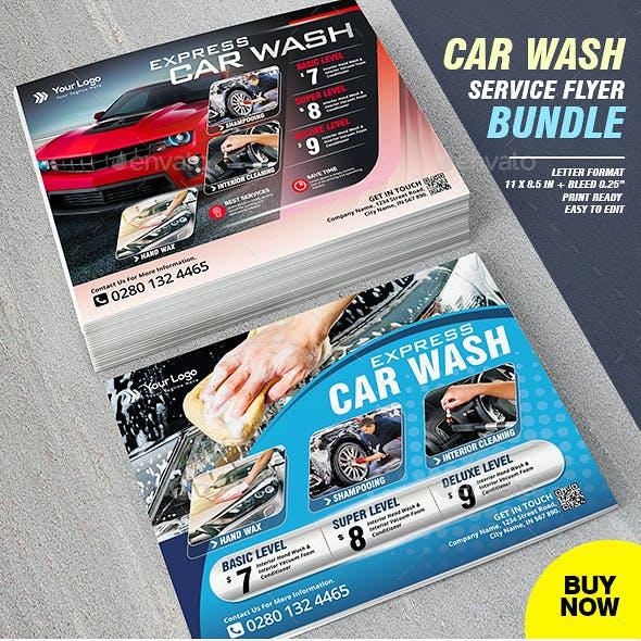 Car Wash Flyer Bundle
