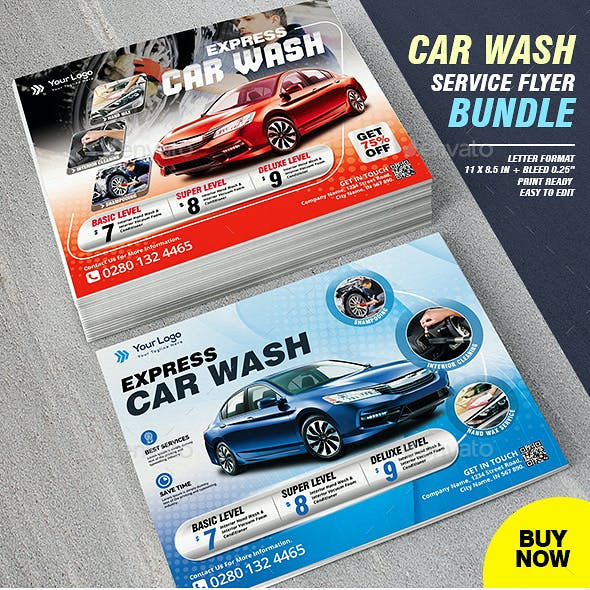 Car Wash Business Flyer Bundle