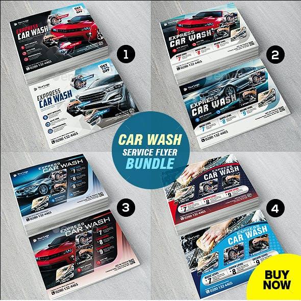 Car Wash Flyer 4 in 1 Bundle