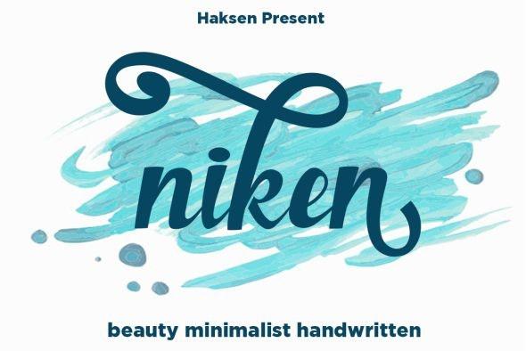 Niken - Cursive Script