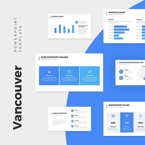 Vancouver Business Pitch Deck PowerPoint Template - PowerPoint Templates Presentation Templates