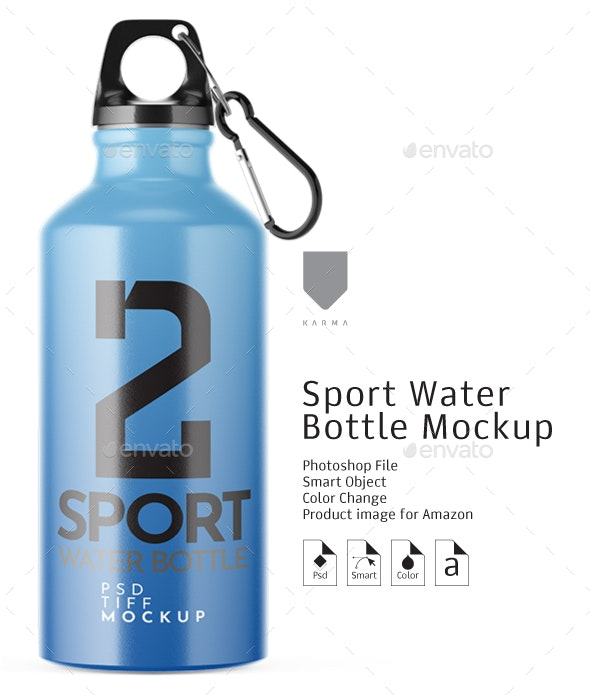 Sport Water Bottle Mockup - Packaging Product Mock-Ups