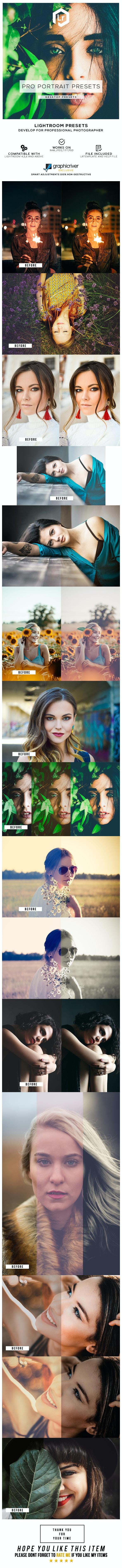 20 Pro Portrait Lightroom Presets - Portrait Lightroom Presets
