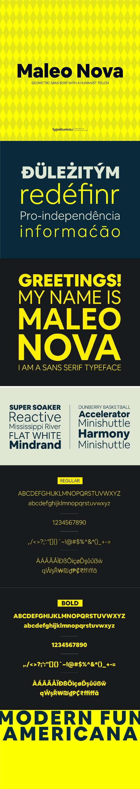 Maleo Nova Sans Serif Font - Miscellaneous Sans-Serif