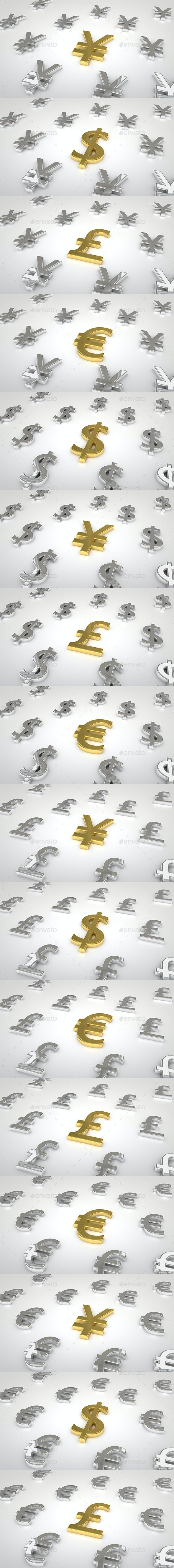 Golden Silver Currency - Business Backgrounds