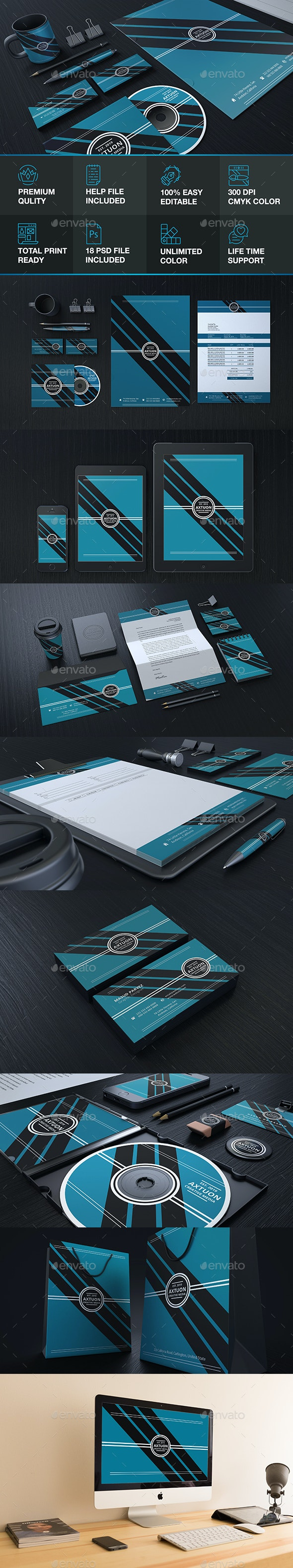 Branding Identity - Stationery Print Templates