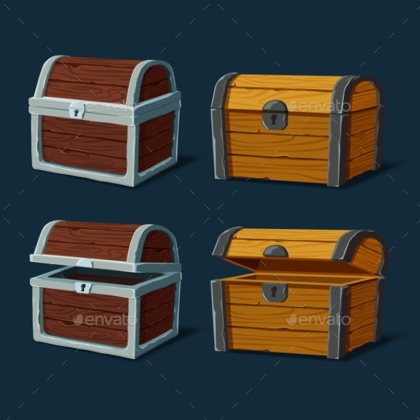 Pirate Chest or Isolated Trunk - Miscellaneous Vectors