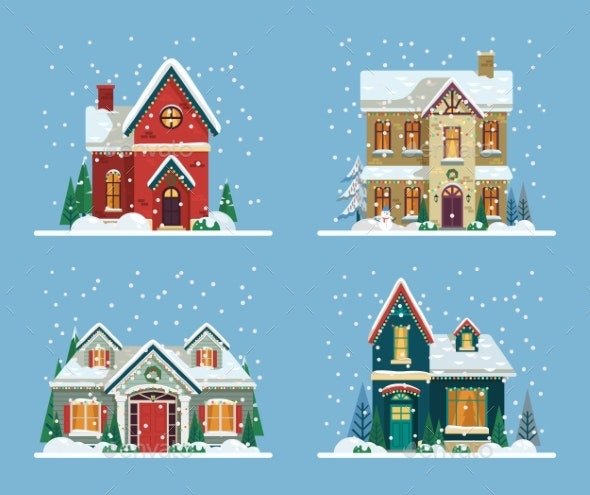 Buildings or Houses Decorated - Christmas Seasons/Holidays