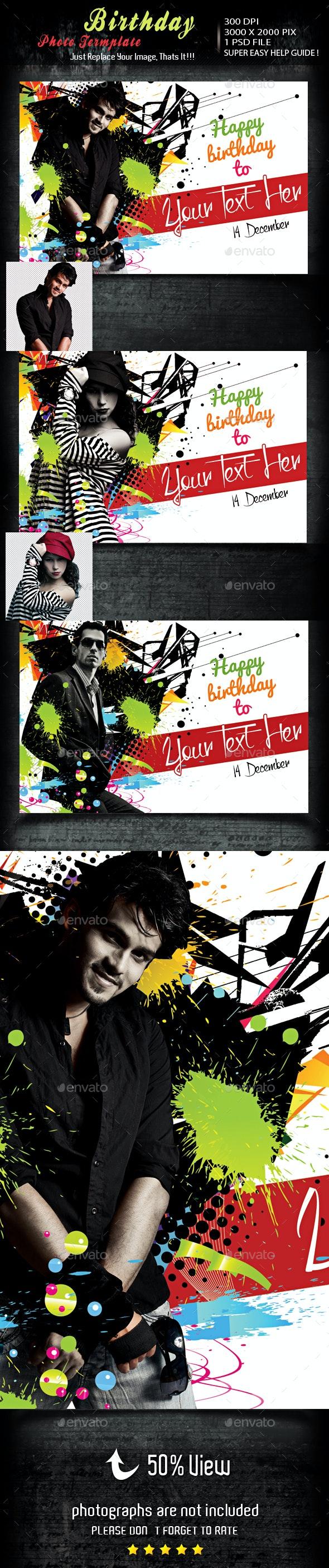 Birthday Photo Template - Photo Templates Graphics