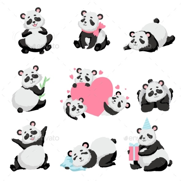 Baby Panda Bear Set - Animals Characters