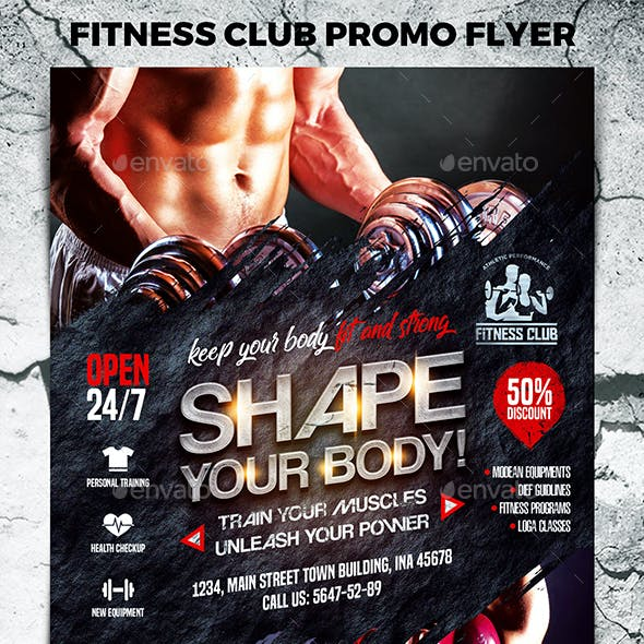 Fitness Club Promo Flyer