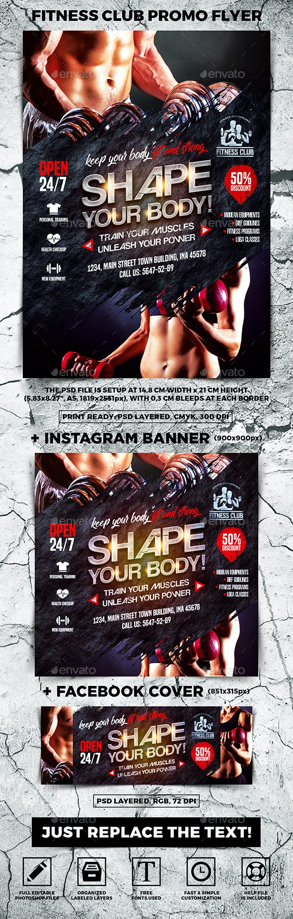 Fitness Club Promo Flyer - Sports Events