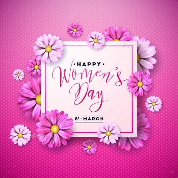 Happy Womens Day Floral Greeting Card Design - Miscellaneous Seasons/Holidays