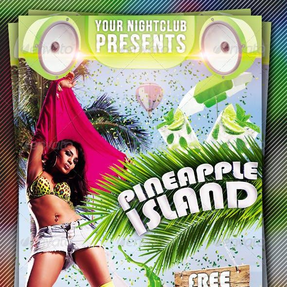 Pineapple Island Summer Flyer Template