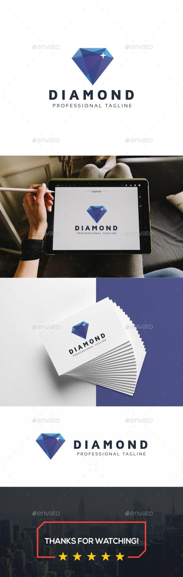 Diamond Polygon Logo - Symbols Logo Templates