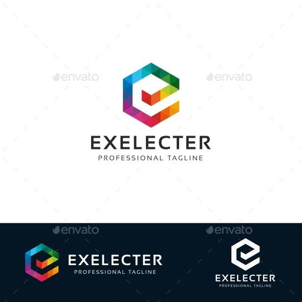 EXELECTER E Letter Logo Template