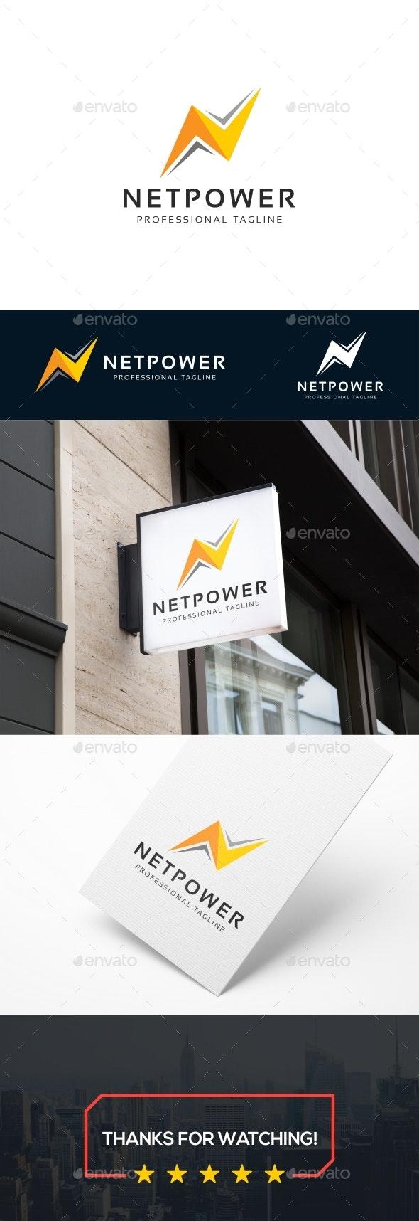 Netpower N Letter Logo - Letters Logo Templates