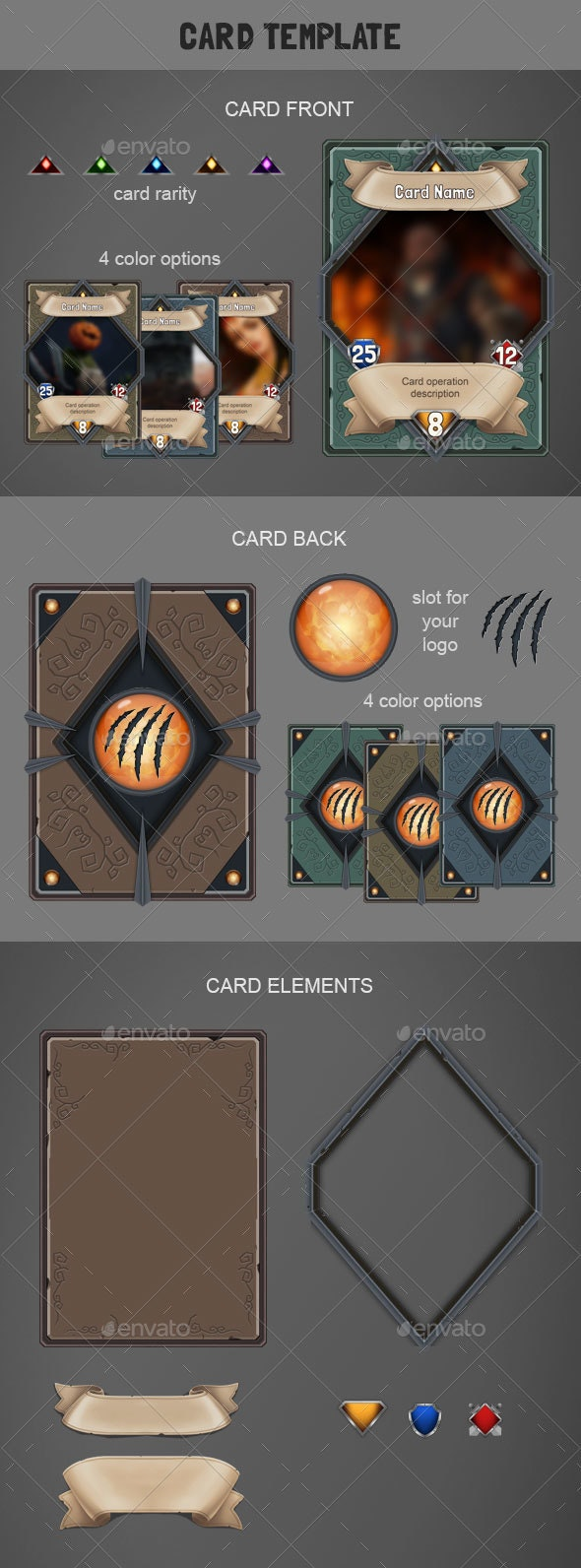 Card Template - User Interfaces Game Assets