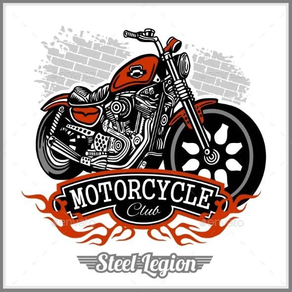 Motorcycle T Shirt Design