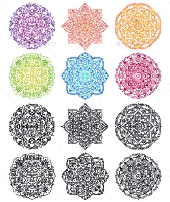 Mandalas Collection - Decorative Symbols Decorative