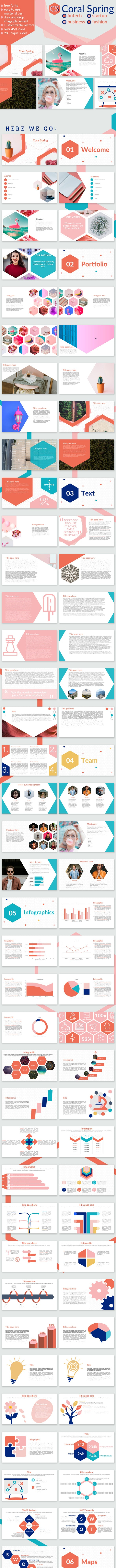 Coral Spring Fintech Startup Business Presentation - Creative PowerPoint Templates