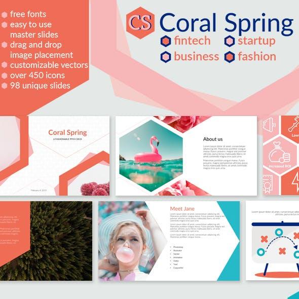 Coral Spring Fintech Startup Business Presentation