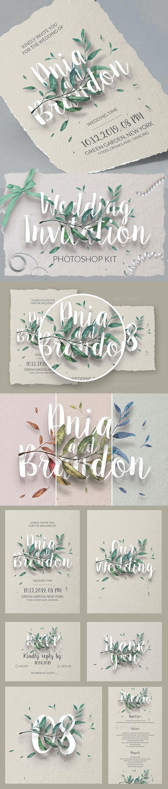 Wedding Invitation Template Kit - Invitations Cards & Invites