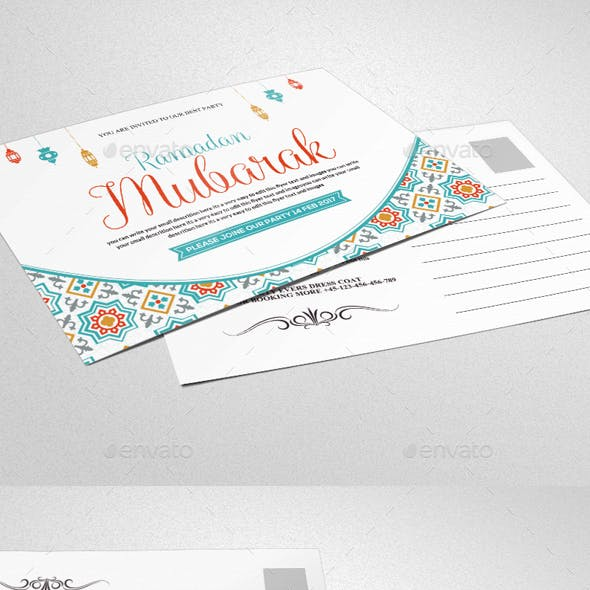 Ramadan & Eid Mubarak Greeting Card