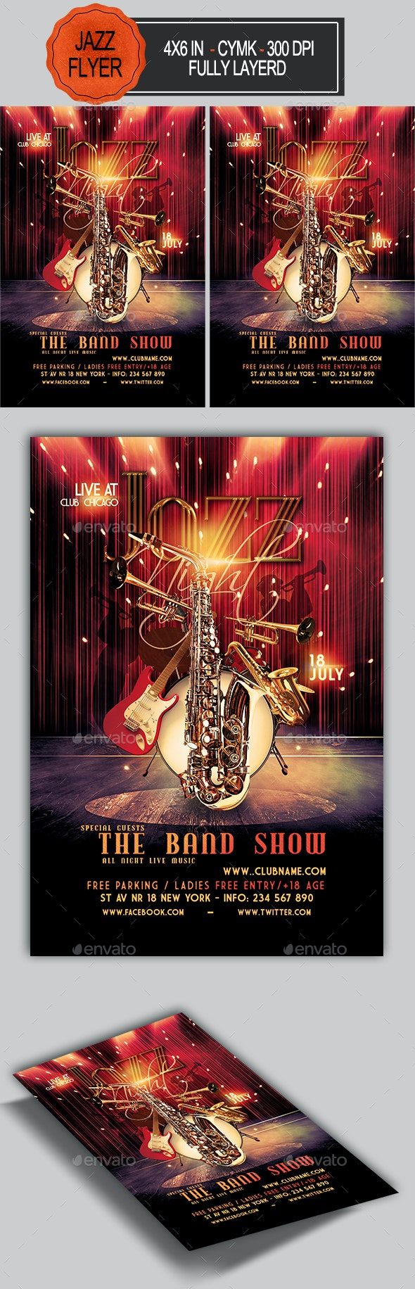 Jazz Flyer - Clubs & Parties Events