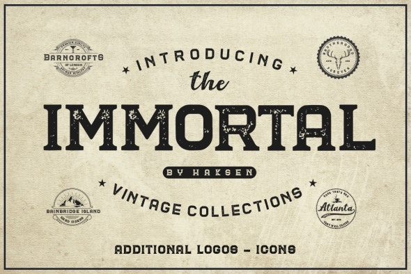 The Immortal // Vintage Collection - Foreign Script