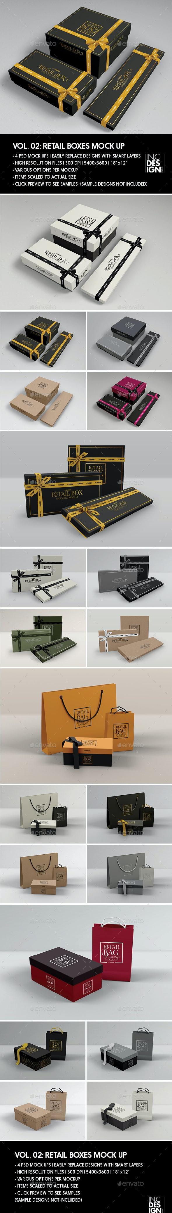 Retail Boxes Vol.2: Bag & Box Packaging Mock Ups - Packaging Product Mock-Ups