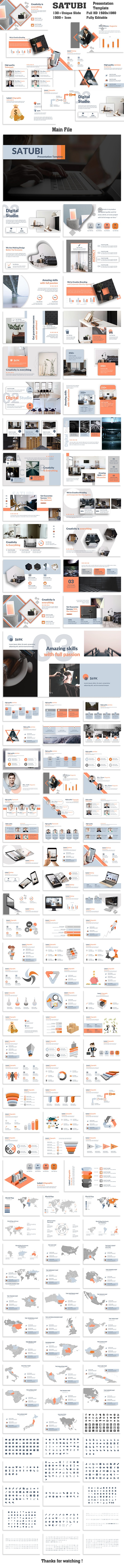 Satubi Creative PowerPoint Template - Creative PowerPoint Templates