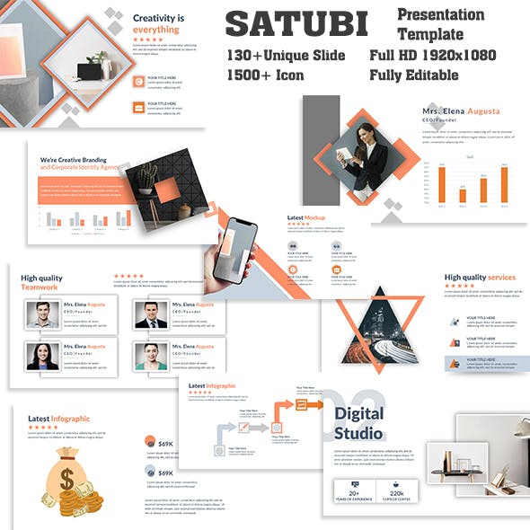 Satubi Creative PowerPoint Template