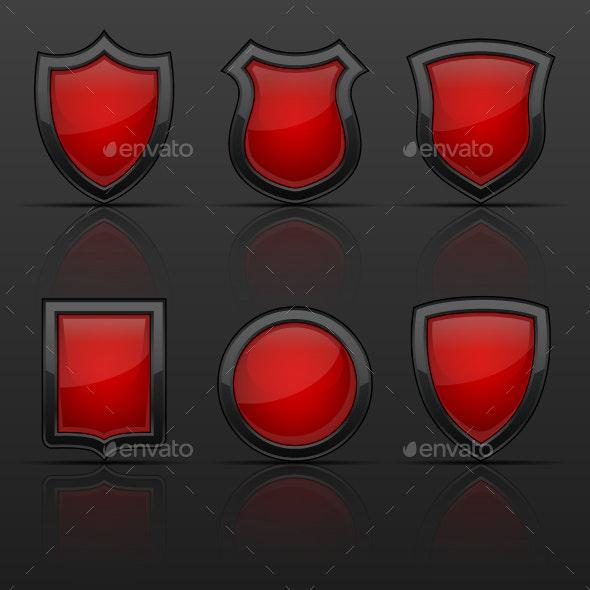 Coat of Arms Shields - Decorative Symbols Decorative