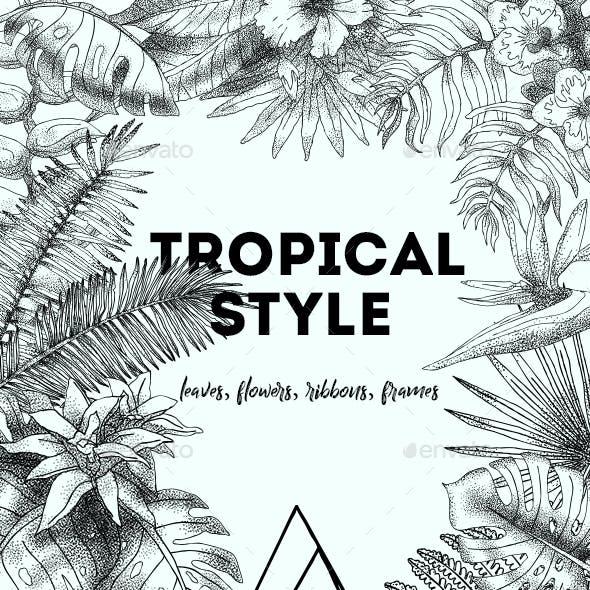 Tropical Style Elements Set. vol.-01