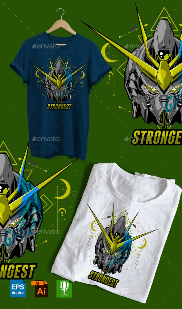 Strongest Vector Design Tshirt - Events T-Shirts
