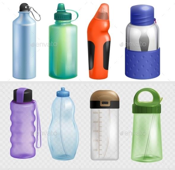Sport Bottle Vector Sportive Water Bottled Drink - Man-made Objects Objects