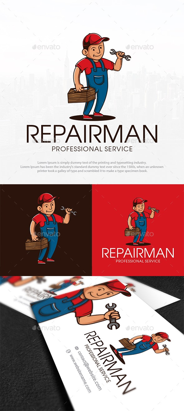 Handyman Services Logo Template - Humans Logo Templates