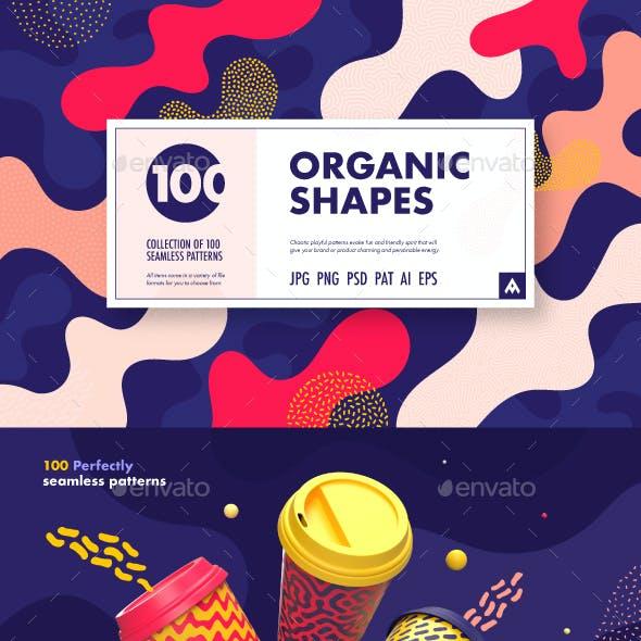 Organic Shapes – 100 Seamless Textures