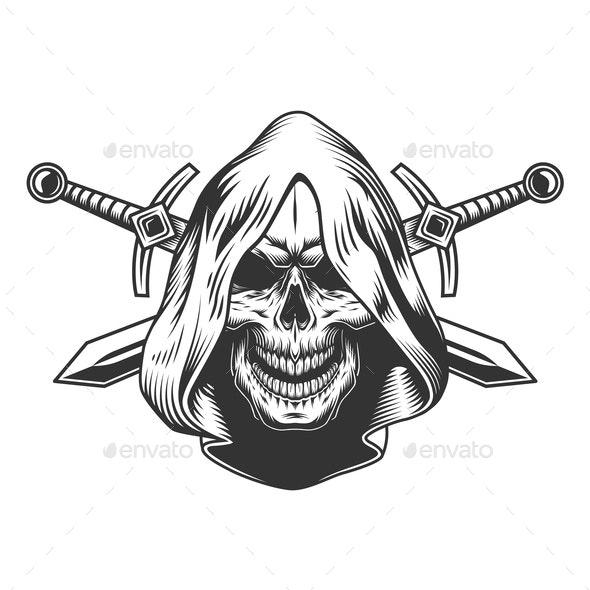 Skull in Hood - Miscellaneous Vectors